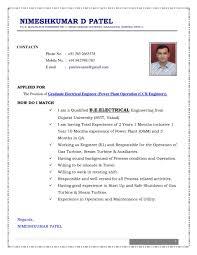 Resume Latest Resume Format Sample Formats Pdf Modern Collection