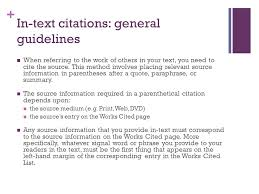 parenthetical citation in mla format mla format for citing sources