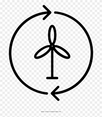Wind Power Coloring Page Renewable Energy Free Transparent Png