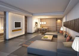 Interior designing of TV wall for living