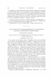 Mutations and Allelomorphism in the Grouse Locusts (Tettigidae, Orthoptera)