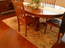 my dining room rug it would kinda end up like this except that i that rug runner