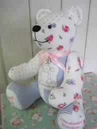 Keepsake memory bear made from baby clothes. Remembrance bear ... & Keepsake memory bear made from baby clothes. Remembrance bear, loved ones  clothing Adamdwight.com