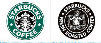 original starbucks logo. Interesting Starbucks Starbucks Logo Now And To Original Logo