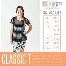 New Lularoe Mystery Classic T Top Shirt Tee 2xs Xs S M L Xl