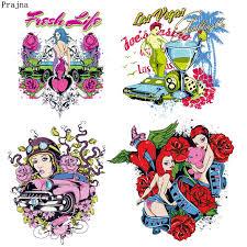 <b>Prajna</b> Gambling Fashion <b>Girl Heat Transfers Vinyl</b> Happy Rose ...
