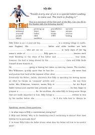 movie worksheet billy elliot english reading movie worksheet billy elliot