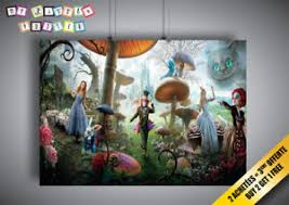 image is loading poster tim burton alice to the countries of  on alice wonderland wall art with poster tim burton alice to the countries of wonders alice in
