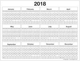 blank 2018 calendar blank 2018 calendar pdf printable yearly template in excel