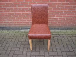 faux leather restaurant dining chairs. 40x restaurant dining chairs with faux brown leather upholstery - cambridgeshire