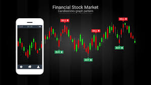 Stock Trading Charts Mobile Stock Trading Concept With Candlestick And Financial