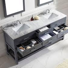 modern vanity sets bathrooms. virtu usa caroline estate 72-inch grey square double sink italian white carrara marble vanity set | kids bathroom ideas pinterest marble, modern sets bathrooms