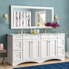 willa arlo interiors madi 72 double bathroom vanity set with mirror reviews wayfair
