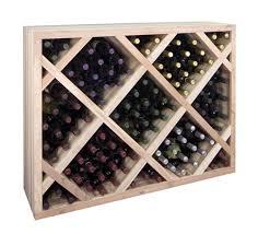 wine rack. Designer Series Diamond Bin Half Height Wine Rack For Underneath Archway