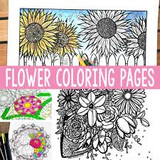 Free Printable Flower Coloring Pages For Adults Easy Peasy And Fun