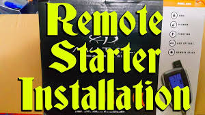 picture of car remote starter installation