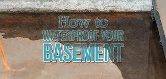 how to waterproof a basement inside