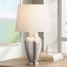 360 lighting rupert brushed steel hammered metal table lamp com