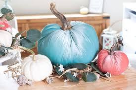 diy velvet pumpkins just like the pros velvet pumpkins in c aqua and natural on a