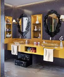 cabinet bathroom interesting recessed design  modern bathroom double clear acrylic basin cool decorative framed wal