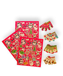Folding Gift Tags Christmas Holiday Folded Gift Tags And Gift Tag Stickers 76 Piece Kit