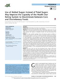 pdf use of added sugars instead of total