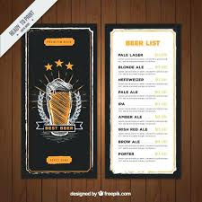 Bar Menu Templates Browse Canvas Collection Of And Find The Perfect ...