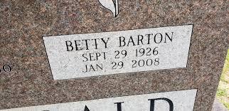 Betty Jean Barton Fitzgerald (1926-2008) - Find A Grave Memorial