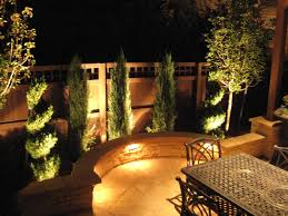 outdoor yard landscaping with