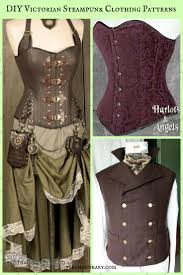Steampunk Patterns Cool Unique DIY Victorian Steampunk Clothing Patterns From Harlots And Angels