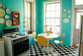 Retro Kitchen Floor Kitchen Design Stylish Vintage Kitchen Flooring Ideas Adorable