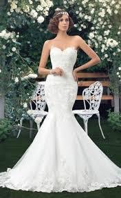 sell amazing sweetheart chapel train lace up mermaid wedding dress