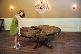 dining table for 10 people large round walnut dining room table with leaves seats   people inside