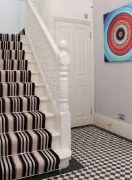 Designer Striped Carpet Black And White Striped Stair Carpet Carpet Stairs