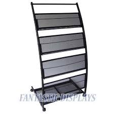 Magazine Holders For Bookshelves Magnificent Magazine Display Rack EBay