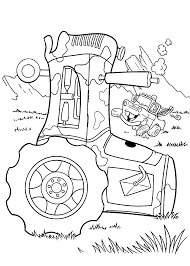 Small Picture Mater and Tractor coloring pages for kids printable free