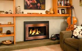 copper fireplace gas inserts classic gas insert bay area ca the fireplace element copper