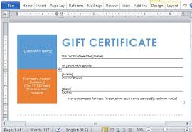Word Templates For Gift Certificates Printable Gift Certificates Template For Word