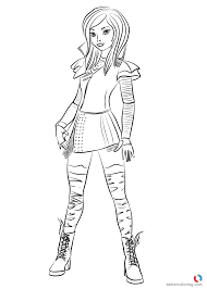 Descendants Free Coloring Pages At Getdrawingscom Free For