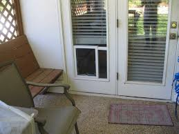 modular vinyl patio door with dog door