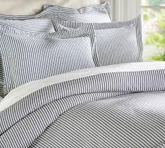 awesome cottage stripe duvet cover sham black pbteen in striped duvet cover dfwago com