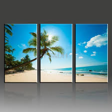 unusual idea beach wall art canvas best interior 3 piece abstract sets waves pictures home decor