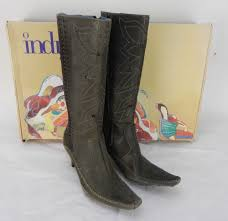 indigo by clarks women s leigh 82051 black leather boots 6 1 2m for