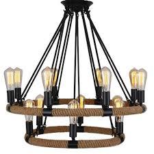 eisa rope rustic chandeliers 14 light pendant lighting chandelier lighting