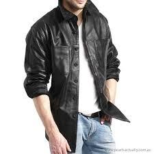 men black outerwear men s black leather shirt jacket australia 18803475 clothes
