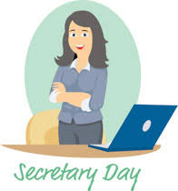 secretary desk clipart.  Desk Secretarystandingneardesksecretariesdayclipart Size 88 Kb From  Secretarys Day To Secretary Desk Clipart 5
