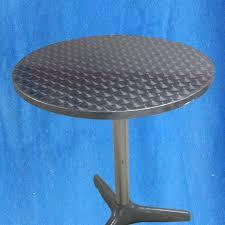 aluminum table round short