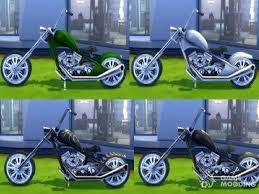 Motorcycle Esmeralda for Sims 4