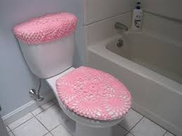 crochet toilet tank lid cover