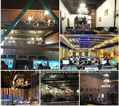 antler chandelier net cafe show